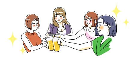 有益な女子会を楽しむ様子